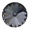 Swarovski Stones 1122 Rivoli 18mm Silver Night Crystal 72pcs